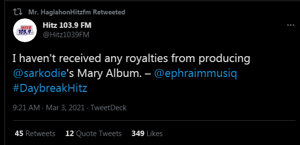 ephraim - Sarkodie Has Not Paid Me After Producing His Mary Album – Music Producer Ephraim