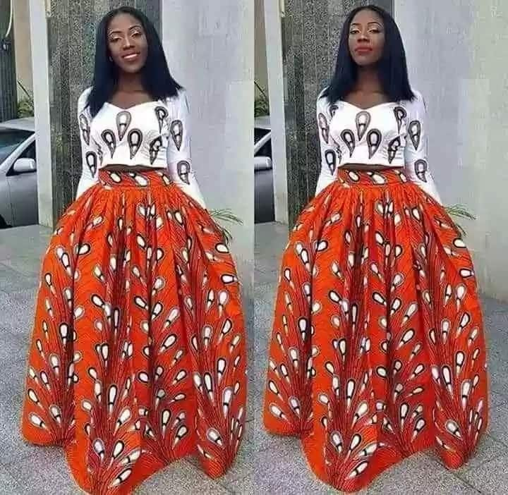 Ankara styles for ladies in Nigeria - skirts and blouse