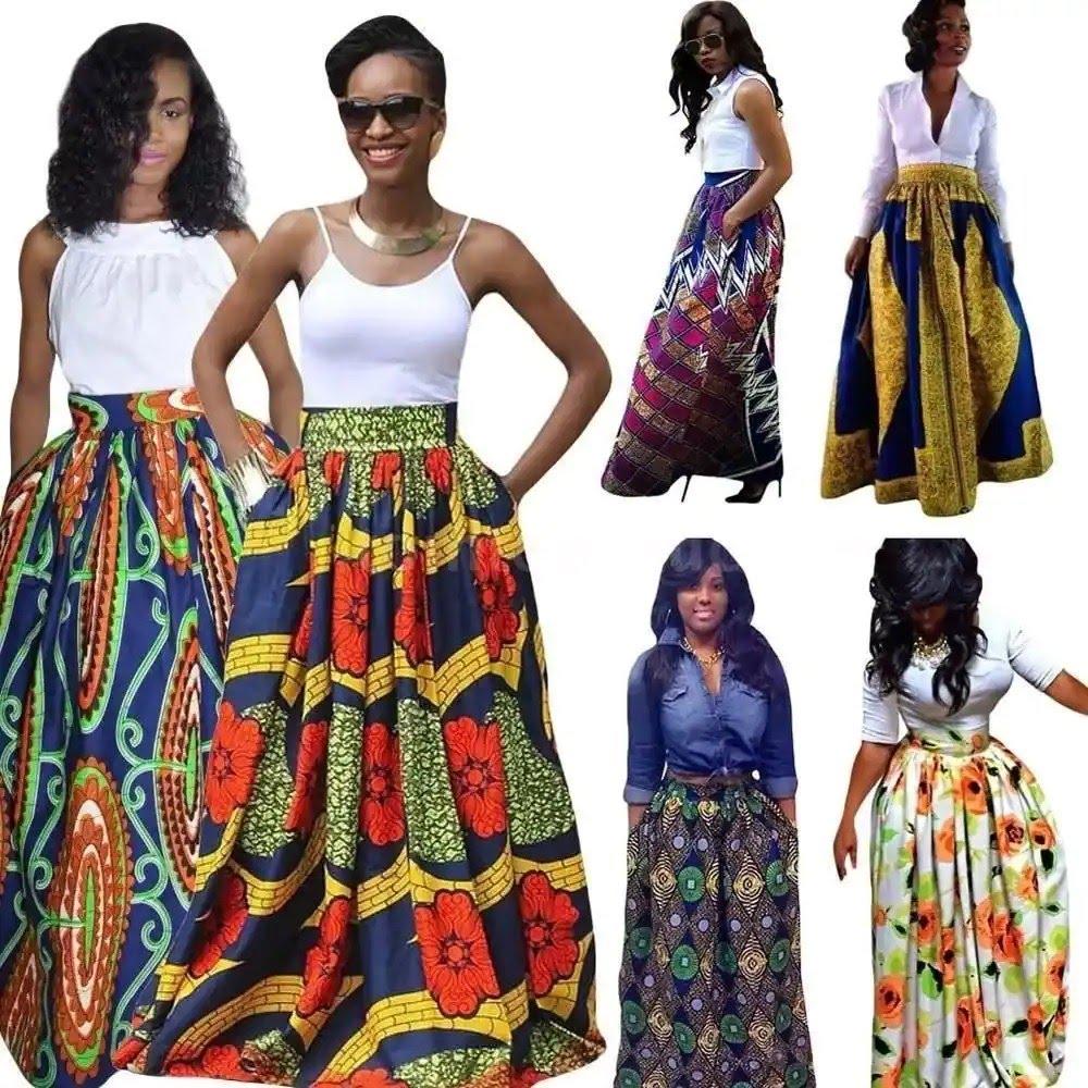 Latest Ankara styles - Maxi skirts