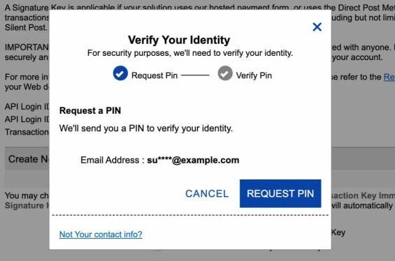 Verify identify for Authorize Net